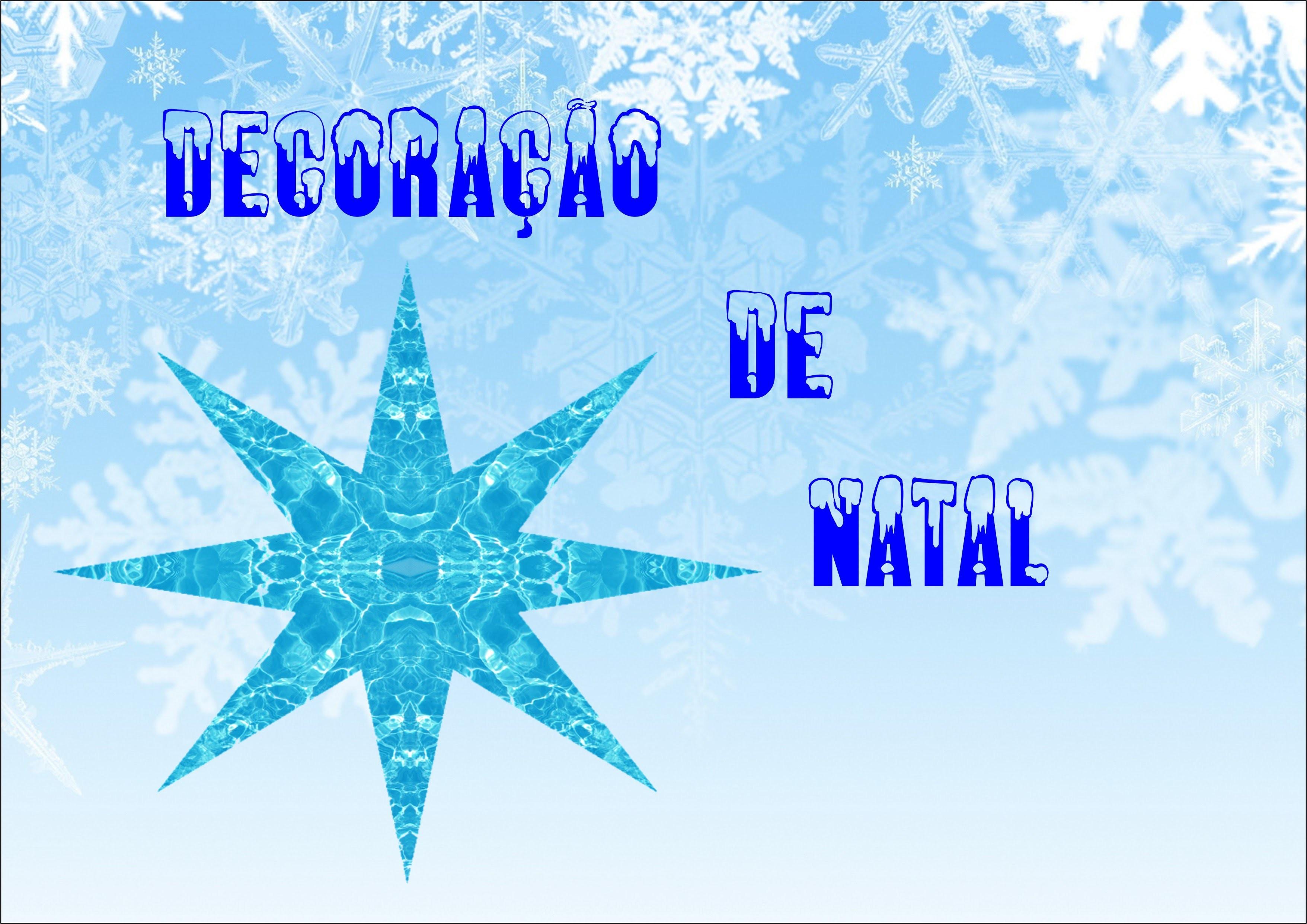 DIY: DECORAÇÕES DE NATAL: FLOCOS DE NEVE + ESTRELAS