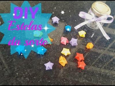 DIY:estrelas da sorte de origami