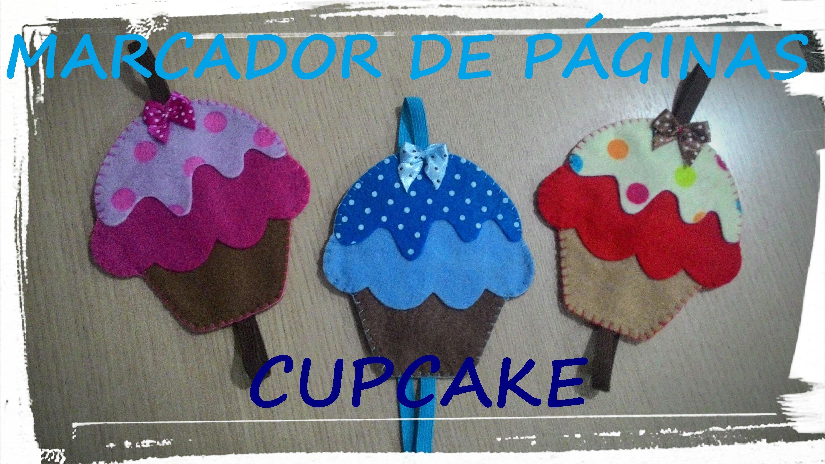 Marcador de Página em Feltro - Cupcake - DIY