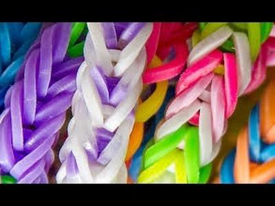 Como fazer corda de pular de elástico! Rainbow Loom tutorial