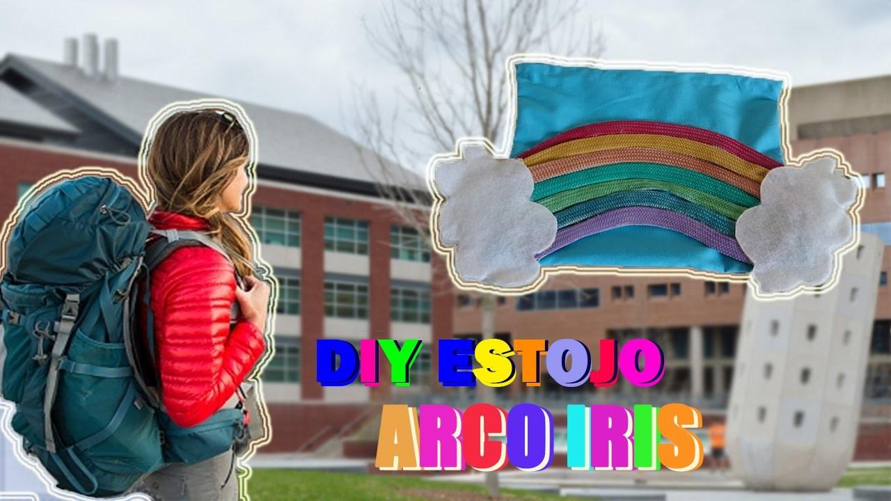 DIY ESTOJO ARCO IRIS | CASE RAINBOW | VOLTA ÀS AULAS | BACK TO SCHOOL