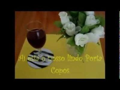 DIY:) PORTA COPOS FEITA C. CD  USADO