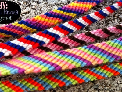 DIY: Pulseira Hippie(diagonal)