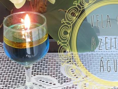 DIY | Vela com Azeite e Água | Dia dos Namorados