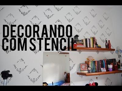 DIY: DECORANDO PAREDE COM STENCIL por Nathália Fontes