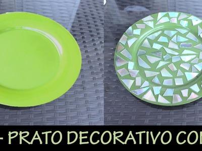 DIY - Prato decorativo com CD