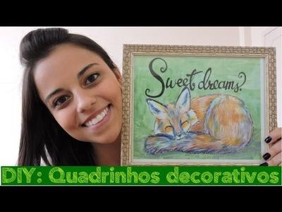 DIY: Quadrinhos decorativos para o quarto (sem furar a parede!) | Por Aline Viana