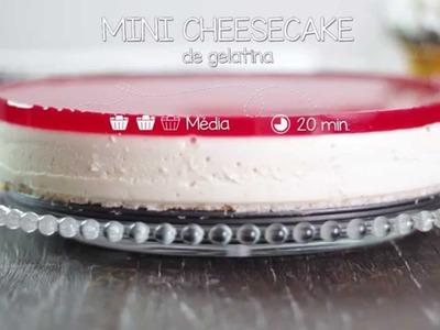 Mini Cheesecake de Gelatina