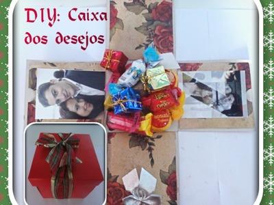 """DIY: Caixa presenteavél - """"Caixa dos desejos"""""""