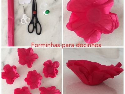 DIY: COMO FAZER FORMINHAS PARA DOCES COM PAPEL CREPOM