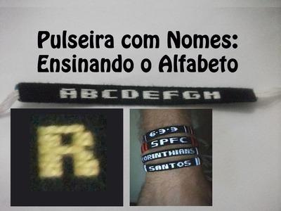 DIY #7 Pulseira com nome - Letra R