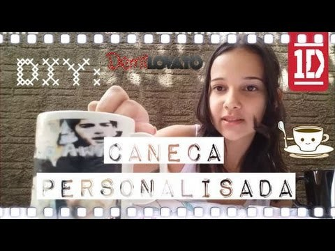 DIY Caneca Personalizada - One Direction e Demi Lovato || Carol Sousah