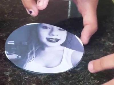 DIY:Como Transformar um CD em Um Porta Retrato de Parede (POR:DANÚBIA)