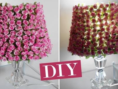 Diy: Customizando o Abajur com flores