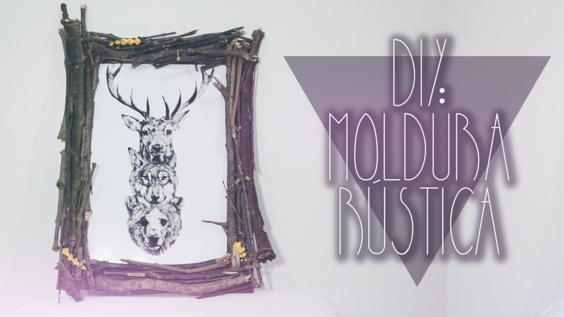 DIY: Moldura Rústica    Rustic Frame