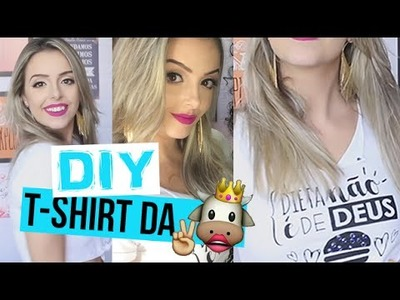 DIY ♡ T-SHIRT DO BABADO - por Juliana Motta
