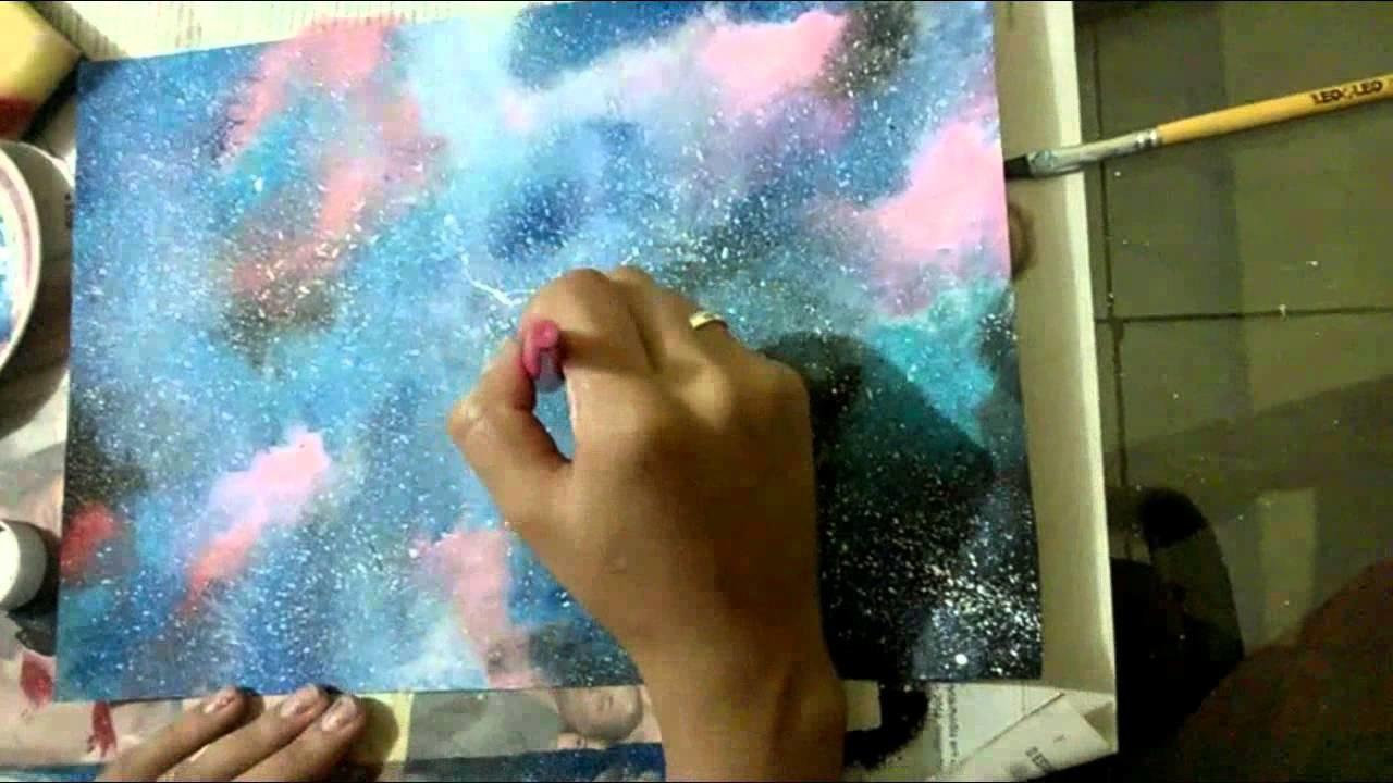 DIY: Como fazer Galaxias com tinta