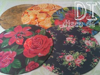 DIY - Disco de vinil(LP) encapado com tecido