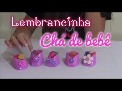 DIY Lembrancinha Chá de Bebê ( sapatinho copo descartável) - Julia Moraes