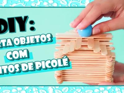 DIY: Porta Objetos com Palitos de Picolé