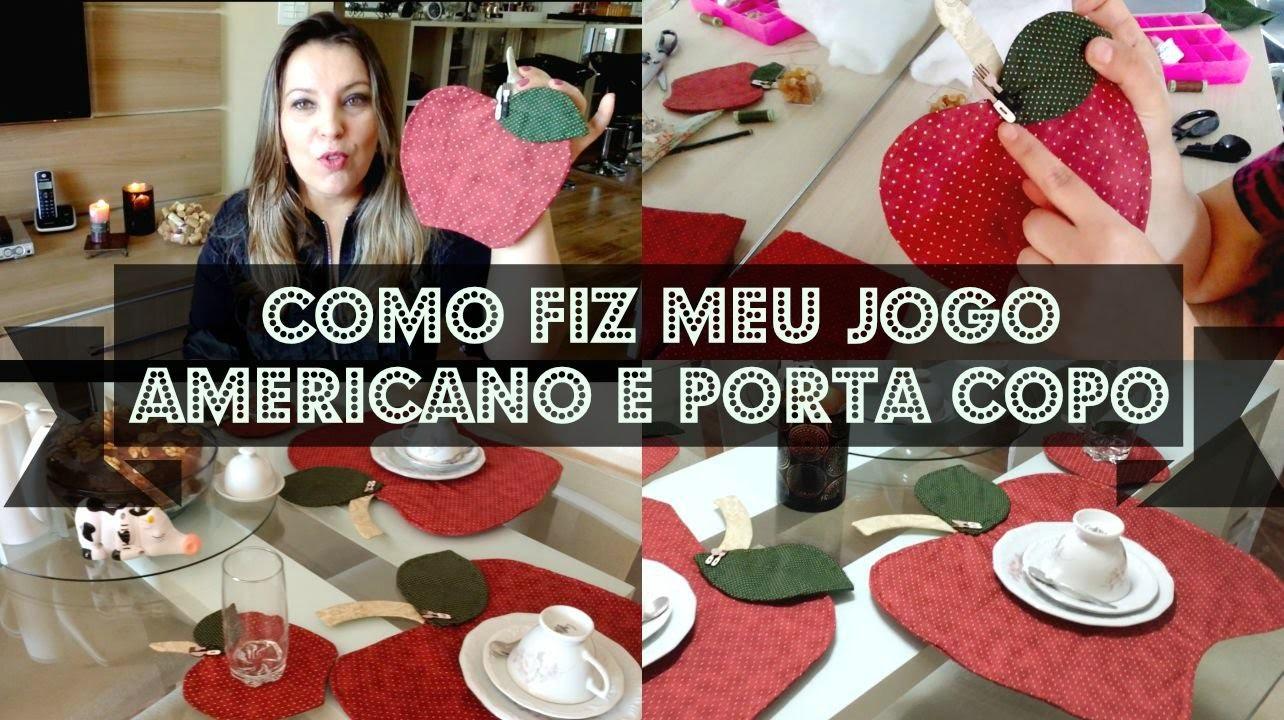 ♡♡ FAÇA VOCÊ MESMA (DIY) JOGO AMERICANO E PORTA COPO MAÇÃ ♡♡
