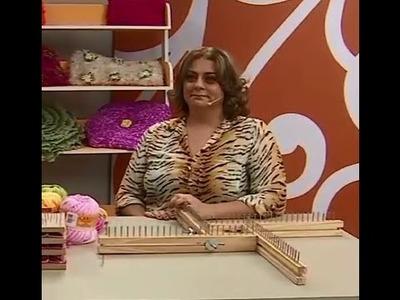 Almofada em Tear com Márcia Ester  | Vitrine do artesanato na TV