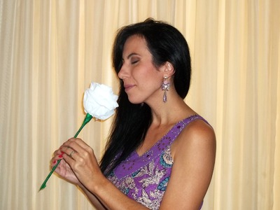 Artesanato: Flor de papel higiênico