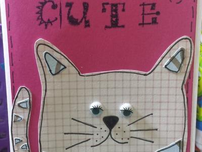 Cartão de gato - DIY cat card