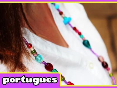 Como Fazer Colar de Miçangas | How to make a Bead Necklace | DIY | HooplaKidz Portugues