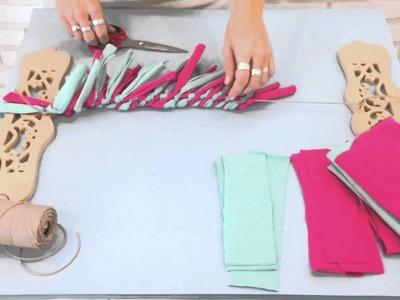 DIY acessório para cabelo usando retalhinhos de malha - Green por Bárbara Chiré