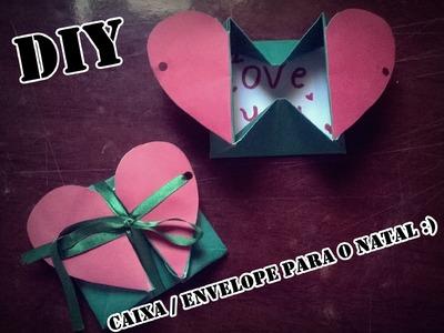 DIY Cartão Caixa.Envelope para o NATAL - Presente Criativo para Namorado