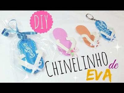 DIY: Chinelinho de EVA  - Lembrancinha de Chá de Bebê | By Luana Carolina