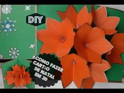 DIY: Como fazer cartão de Natal em 3D- Pop Up Card ⛄️❄️