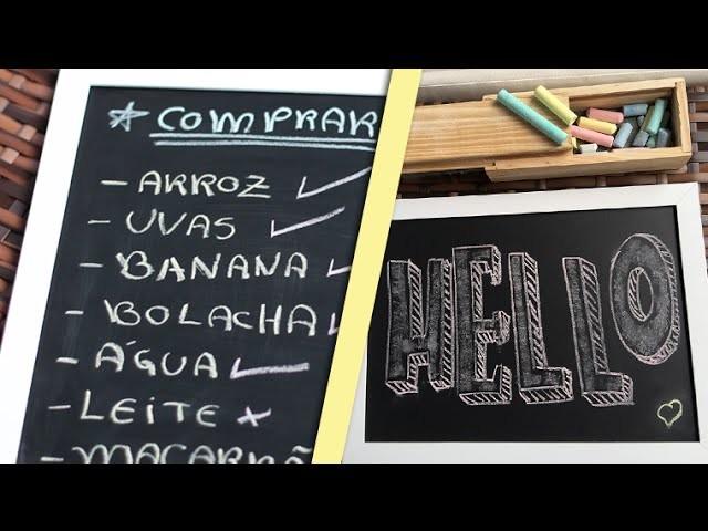 DIY: Como fazer quadrinho fofo de giz! (muito fácil)