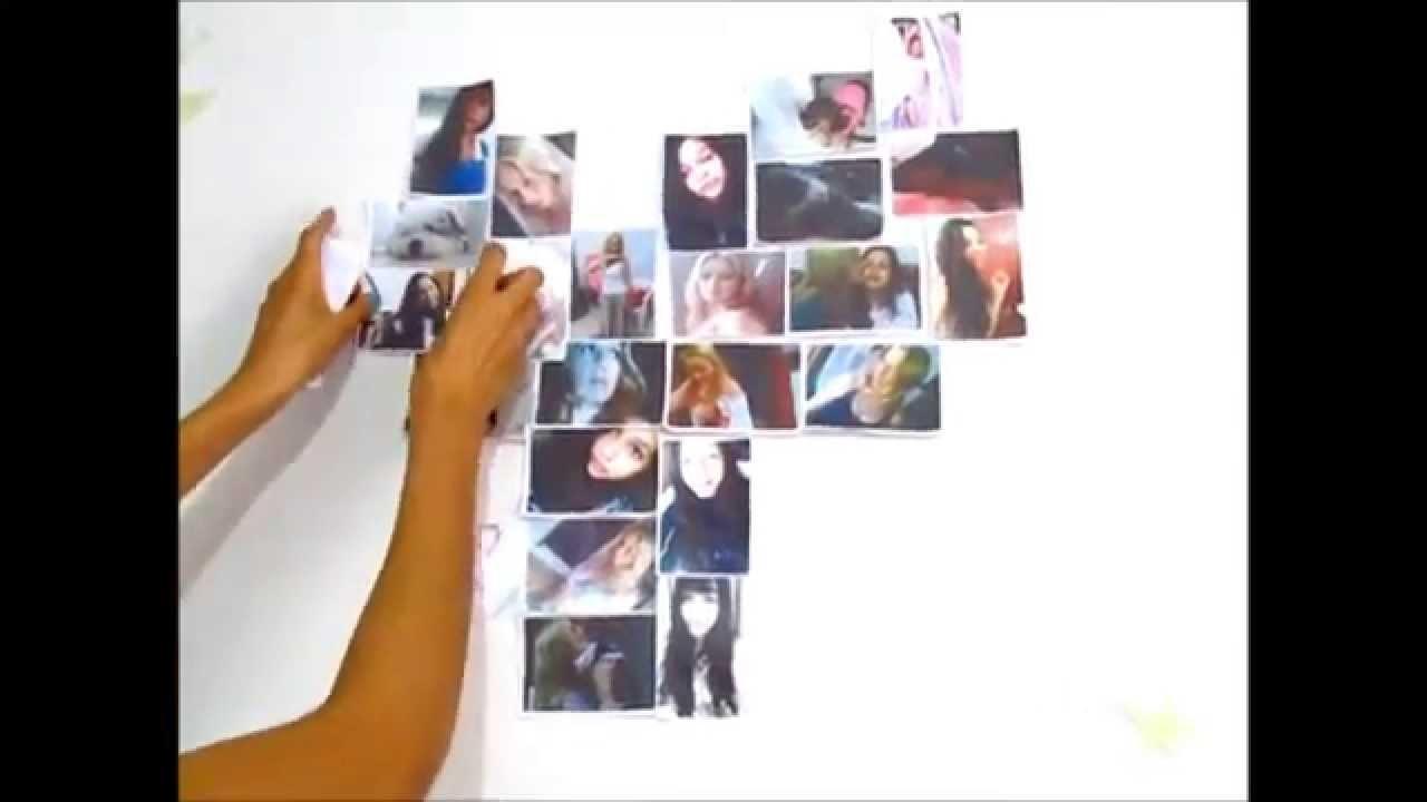 DIY: Coração de fotos.