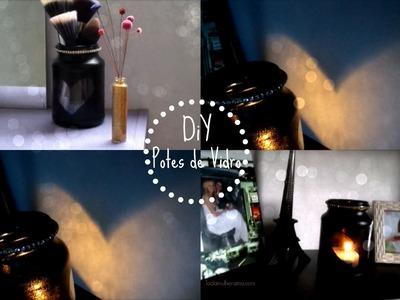 DIY: DECORAÇÃO FOFA COM POTES DE VIDRO