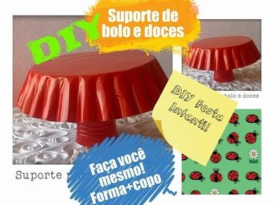 DIY. Festa COMO FAZER BANDEJA  PARA BOLO E DOCES PARA FESTA