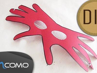 DIY - Máscara de Carnaval feito com as Mãos