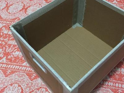 DIY - Organizador (fazendo a caixa)     CANAL DA JULANI ✂️ Artesanato