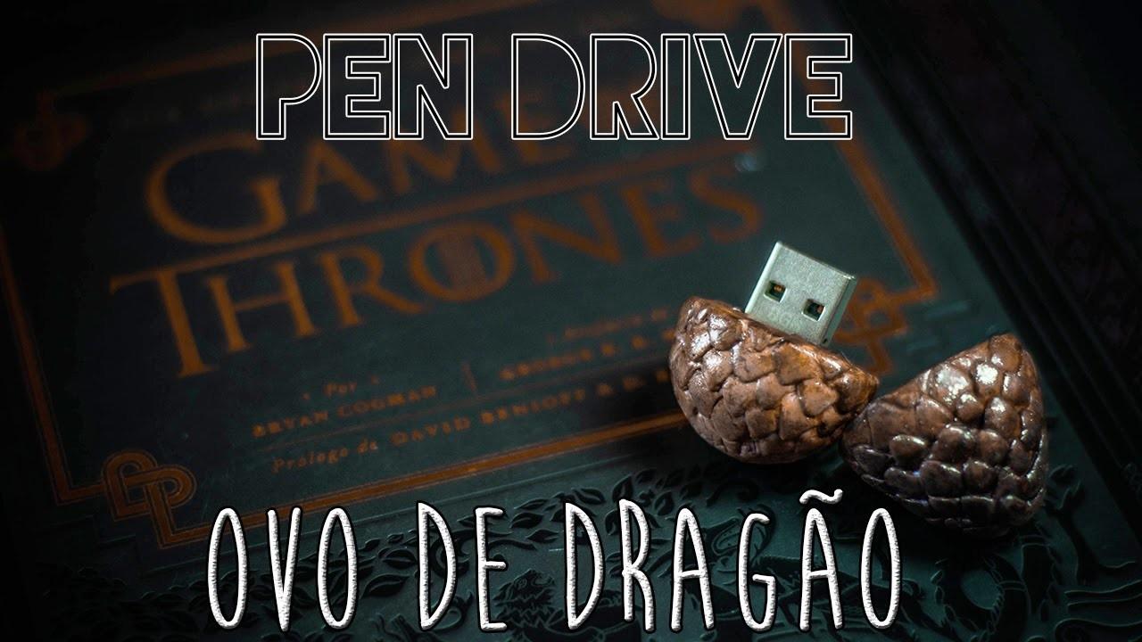 DIY :: Pen Drive Ovo de Dragão | Flash Drive Dragon Egg | Projeto DIY
