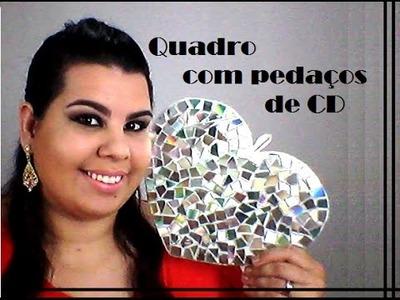 DIY: Quadro com CD VELHO. Horas Vagas by Mc
