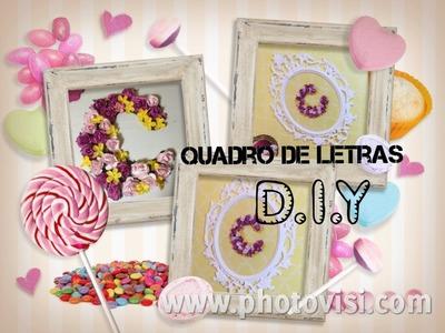 DIY QUADRO DE LETRAS Quarto de Menina Inspiração Tumblr