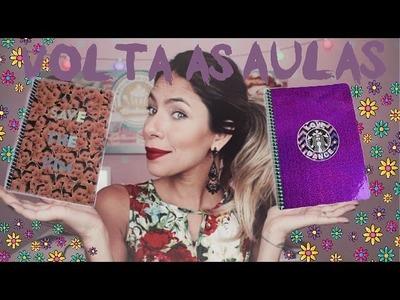 DIY: VOLTA AS AULAS! cadernos,lápis e estojo