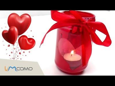 Porta velas de coração | dia dos namorados | DIY