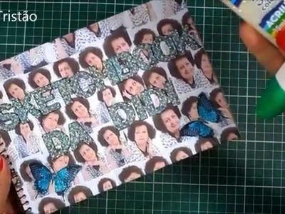 DIY - Como encapar cadernos com fotos impressas - Quase sessenta - Didi Tristão