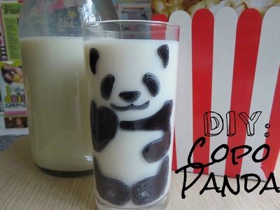 DIY: Como fazer copo de panda ♥