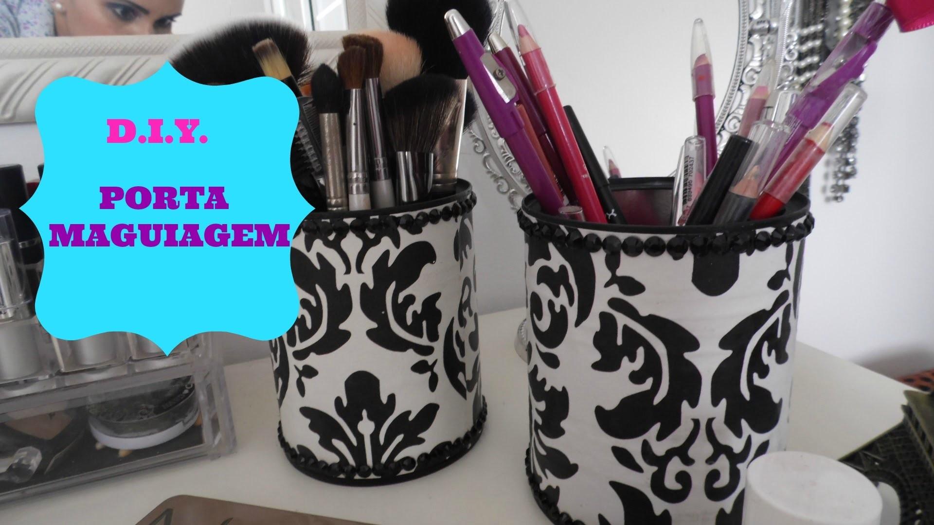 DIY Faça Você Mesmo Porta Pincel de Maquiagem