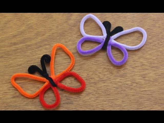 Artesanato com chenile ou limpador de cachimbo: borboleta passo a passo