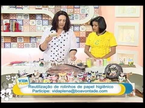 Artesanato - Corujinhas com rolinhos de papel