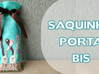 Artesanato. Enfeites de Páscoa - DIY - Saquinho Porta Bis